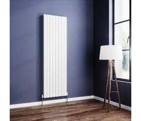 Wyvern White Flat Double Panel Vertical Radiator 1800mm x 544mm