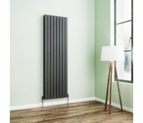 Wyvern Anthracite Flat Double Panel Vertical Radiator 1800mm x 544mm