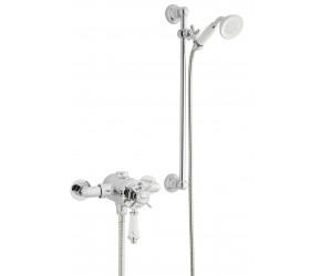 Kartell Klassique Option 4 Thermostatic Exposed Shower with Slide Rail Kit