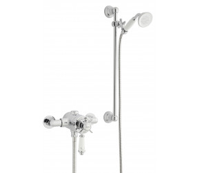 Kartell Viktory Option 4 Thermostatic Exposed Shower Inc Adjustable Slide Rail Kit
