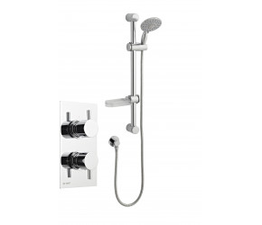 Kartell Option 1 Thermostatic Concealed Shower with Adjustable Slider Rail Kit