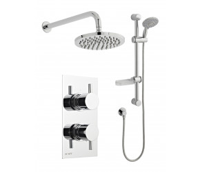 Kartell Option 3 Thermostatic Shower with Adjustable Slide Rail Kit