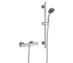 Tailored Plumb Chrome Essential Thermostatic Bar Valve Round Riser Shower Kit