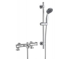 Tailored Plumb Chrome Essential Thermostatic Bath Shower Mixer Riser Kit