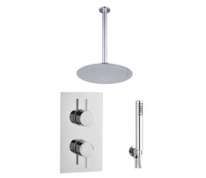 Tailored Chrome Twin Overhead Two Handle Ceiling Kit