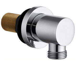 Tailored Chrome Round wall outlet elbow