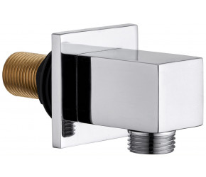 Tailored Chrome Square wall outlet elbow