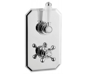 Tailored Tenby Chrome Traditional Concealed 2 handle 1 Way Thermostatic Shower Valve