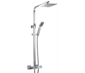 Tailored Plumb Chrome Essential Square Thermostatic Overhead Shower Kit