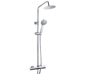 Tailored Plumb Chrome Essential Round Thermostatic Overhead Shower Kit