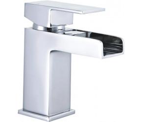Tailored Cardiff Chrome Square Waterfall Mini Mono Basin Mixer Tap