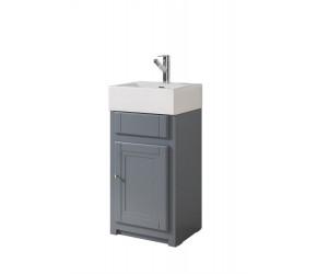 Tailored Tenby Grey 445mm Floorstanding Traditional Belfast Cloakroom Vanity Unit