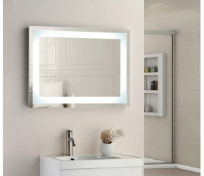 Tailored Niamh Square Strip LED Touch Mirror and Demist 700mm x 500mm x 45mm