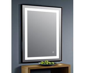 Tailored Darcy Orca LED Mattee Frame Mirror Black 500mm x 700mm