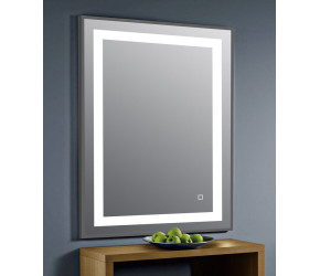 Tailored Darcy LED Mattee Frame Mirror Grey 500mm x 700mm