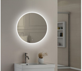 Tailored Lily Slimline LED Round Touch Mirror 600mm