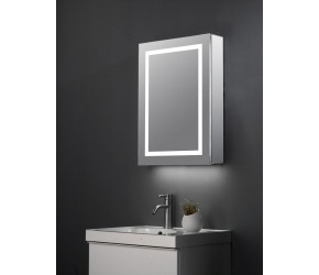 Tailored Patrick Single Door LED Mirror Cabinet 500mm x 700mm