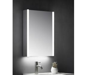 Tailored Eden Single Door Mirror Cabinet LED Side Strips 500mm x 700mm