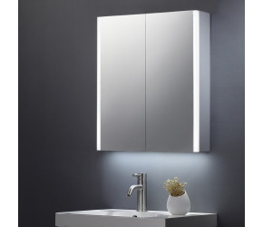 Tailored Beau Double Door Mirror Cabinet LED Side Strips 600mm x 700mm