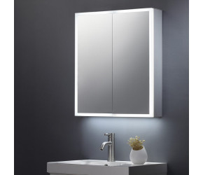 Tailored Bethany Double Door Mirror Cabinet LED Surround 600mm x 700mm