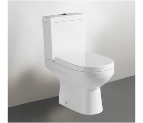 Tailored Florence Close Coupled D Shape Toilet with Seat