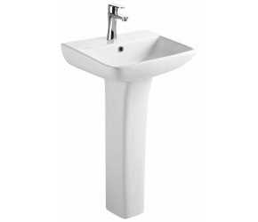 Tailored Seina Tailored 1 Tap Hole Basin and Pedestal