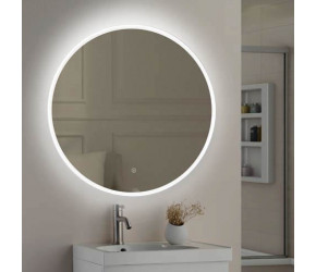 Tailored Lily Slimline LED Round Touch Mirror 800mm