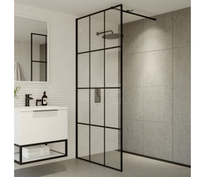 Iona A6 700mm Grid Wetroom Panel