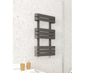 Kartell Tampa Anthracite 500mm x 1200mm Towel Rail