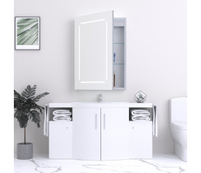 Kartell Reflections Link 700mm x 500mm LED Mirror Cabinet