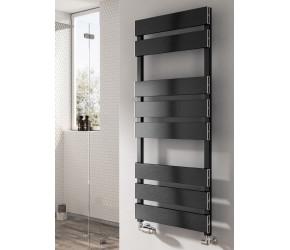 Reina Fermo Black Satin Aluminium Towel Rail 710mm x 480mm