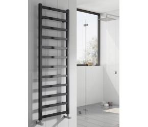 Reina Fano Black Satin Aluminium Towel Rail 720mm x 485mm