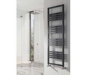 Reina Bolca Black Satin Aluminium Towel Rail 1200mm x 485mm