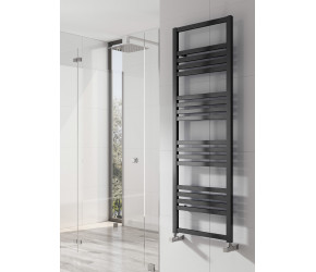 Reina Bolca Black Satin Aluminium Towel Rail 1530mm x 485mm