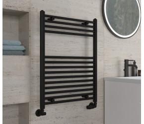 Eastbrook Wingrave Matt Black Straight Heated Towel Rail 800mm x 600mm