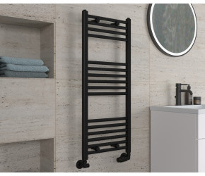 Eastbrook Wingrave Matt Black Straight Heated Towel Rail 1000mm x 400mm