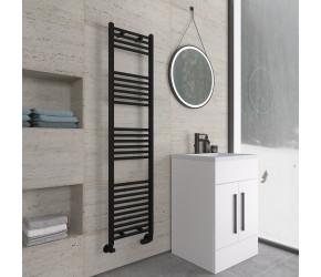 Eastbrook Wingrave Matt Black Straight Heated Towel Rail 1600mm x 400mm