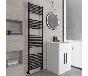 Eastbrook Wingrave Matt Black Straight Heated Towel Rail 1800mm x 500mm
