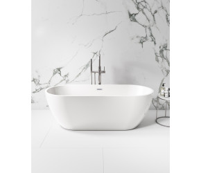 Iona Como Gloss White 1650mm x 700mm Free Standing Bath
