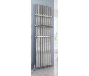 Eastbrook Sandhurst Vertical Aluminium Polished Designer Radiator 1800mm x 485mm