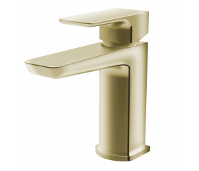 Tailored Swansea Brushed Brass Mono Basin Mixer Tap and Waste