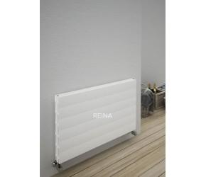 Reina Veno White Aluminium Horizontal Double Flat Panel Radiator 605mm x 1200mm