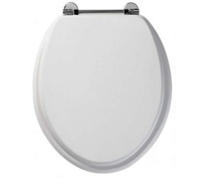 Roper Rhodes White Wooden Axis Toilet Seat (8065WH)