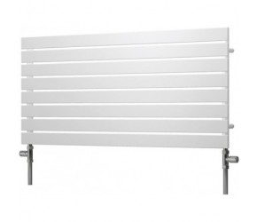Reina Rione Single Panel Designer Radiator 550mm High X 1200mm Wide White