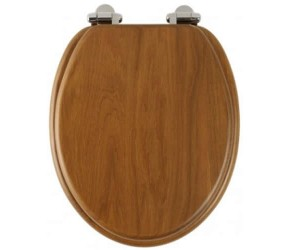 Roper Rhodes Honey Oak Wooden Traditional soft-closing Toilet Seat (8081HOSC)