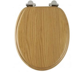 Roper Rhodes Oak Wooden Traditional soft-closing Toilet Seat (8081NOSC)