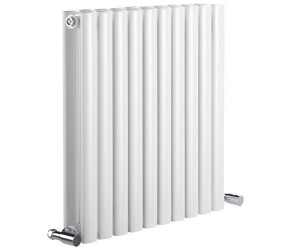 Reina Neva Double Panel Designer Horizontal Radiator 550mm High x 413mm Wide White