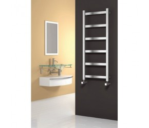 Reina Mina Brushed Stainless Steel Towel Rail 1170mm X 480mm
