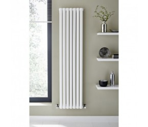 Kartell Aspen White Vertical Single Panel Designer Radiator 1800mm x 420mm