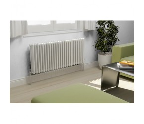 Eastgate Lazarus Horizontal Four Column Radiator 600mm High x 628mm Wide
